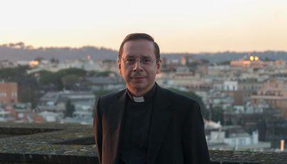 Mariano Fazio, na Universidade da Santa Cruz, em Roma.