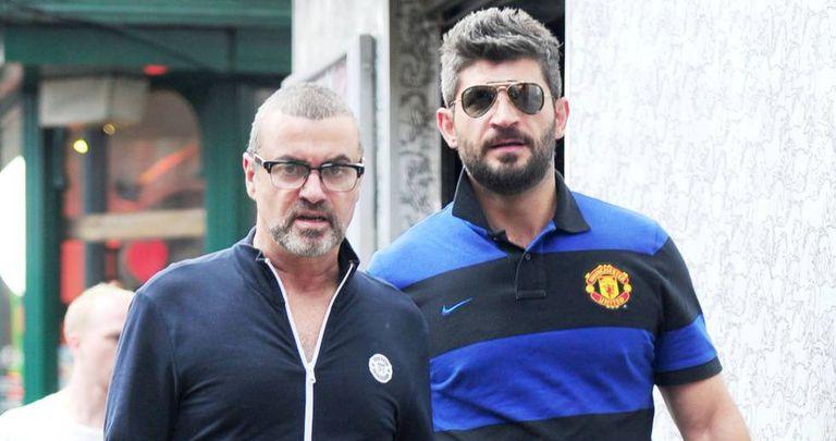 George Michael e Fadi Fawaz pelas ruas de Londres em 20 de junho de 2012.