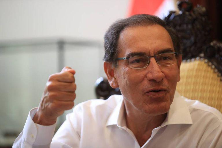Martín Vizcarra durante a entrevista.