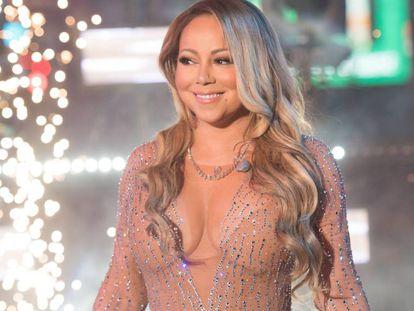Mariah Carey, na Times Square.