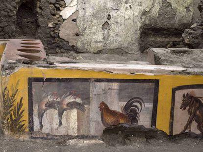 Termopolio descubierto en Pompeya.