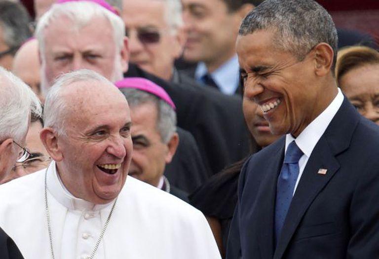 Obama e o Papa Francisco, nesta terça.