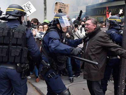 Protesto contra a reforma trabalhista em Paris.