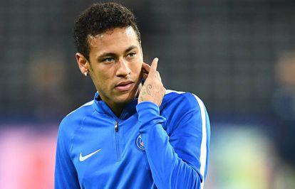 Neymar, num treino do PSG.