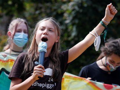 Greta Thunberg, ativista pelo clima e fundadora do movimento Fridays for Future.