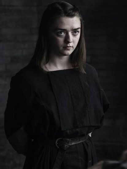 Maisie Williams, a Arya Stark de 'Game of Thrones'.