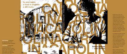 Capa e contra de 'Carolina' que se tornou possível de ser realizado após ser aprovado no Proac-SP.