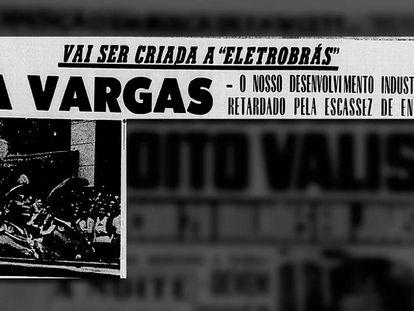 Jornal 'A Noite' noticia em 1953 o projeto do governo Vargas de criação da Eletrobras.