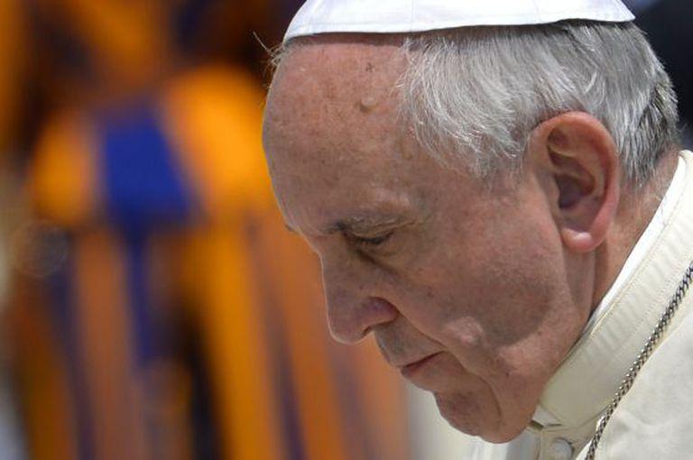 O papa Francisco, ontem no Vaticano.