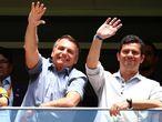 Jair Bolsonaro y el exministro de Justicia, Sergio Moro, el pasado 16 de febrero.