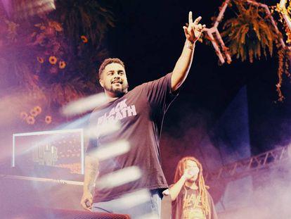 Baco Exu do Blues no Coala Festival.