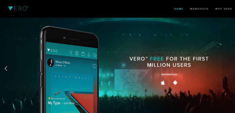 Imagem promocional do Vero no site da empresa.