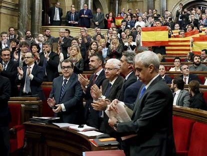 O Parlamento catalão depois da votação sobre a independência. REUTERS/Albert Gea