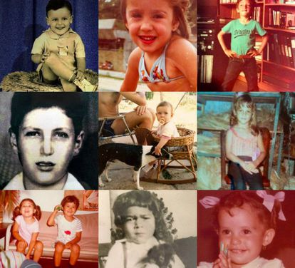 Fotos de crianças dos usuários de redes sociais, incluindo ministros e Temer.