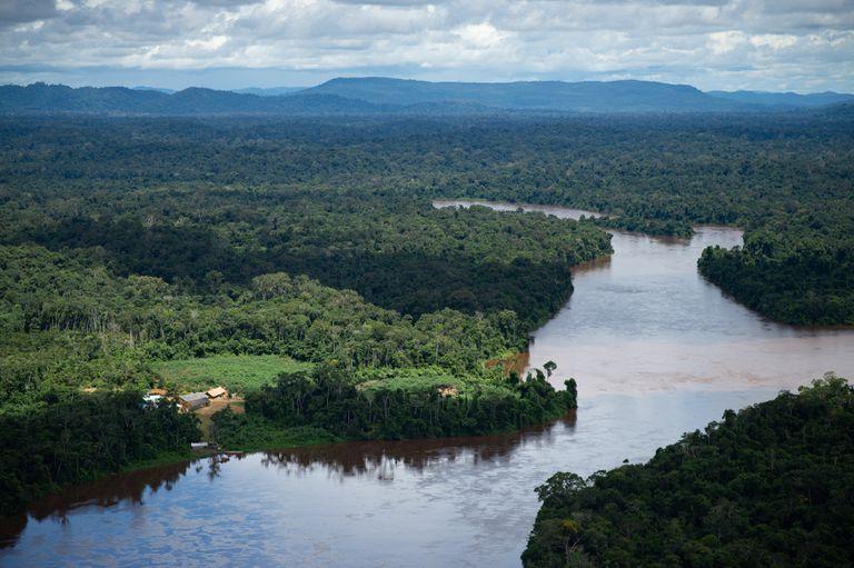 Vista aérea da região amazônica em junho de 2020.
