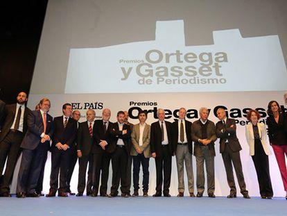 Premiados e júri dos prêmios Ortega e Gasset 2015.