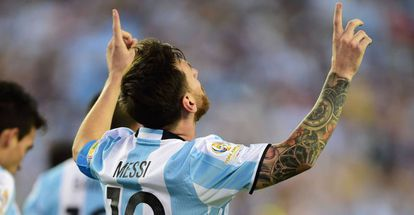Messi foi o melhor em campo.