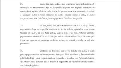 Em petição, a Alúmi Publicidades diz como foi ajustado repasse à PDA Arquitetura