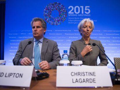 Christine Lagarde junto a David Lipton, em uma imagem de arquivo