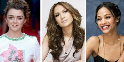 Maisie Williams, Jennifer Lopez e Zoe Saldana.