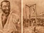 Enforcamento do escravo Lucas da Feira, em 1849, em Feira de Santana; ele foi condenado por homicídio.