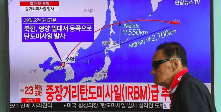 Televisão mostra trajetória do lançamento