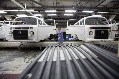 Linha de produção da Volkswagen em São Bernardo do Campo.