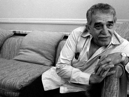 O escritor Gabriel García Márquez durante uma entrevista em 1990.