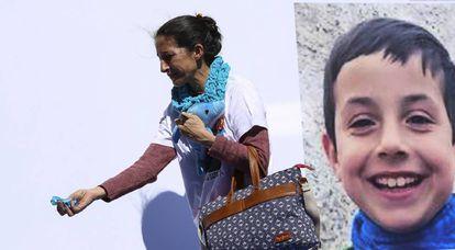Patricia Ramírez em uma manifestação em Almería em favor de seu filho, Gabriel Cruz.