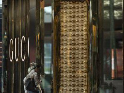 Vitrine da Gucci, no Rio de Janeiro.