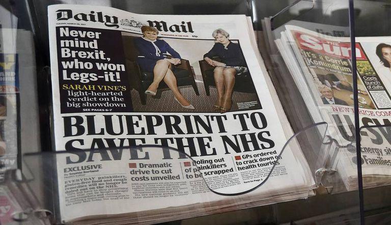 Capa desta terça-feira do 'Daily Mail'.
