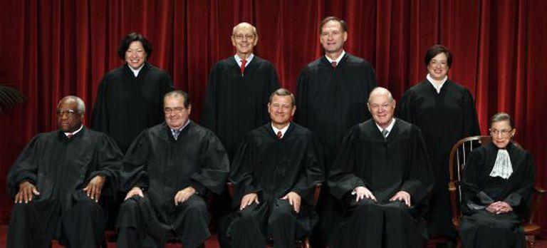 Membros do Corte Suprema de Justiça dos Estados Unidos.
