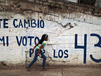 Uma parede pintada no Estado de Guerrero.