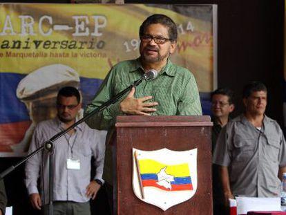 Iván Márquez durante a celebração do 50 aniversário das FARC.