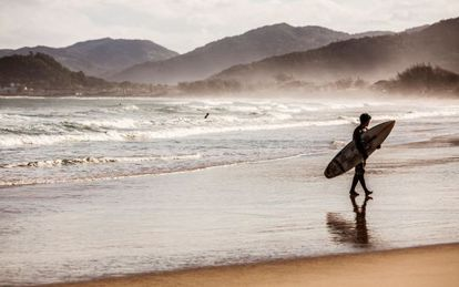 Praia de Campeche, na ilha de Santa Catarina.