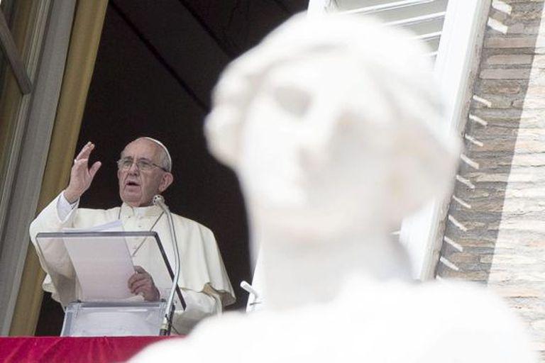 O papa Francisco na missa dominical no Vaticano.