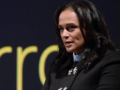 Isabel Dos Santos, em 2018, na sede da Efacec, empresa que comprou com um financiamento do Estado angolano.