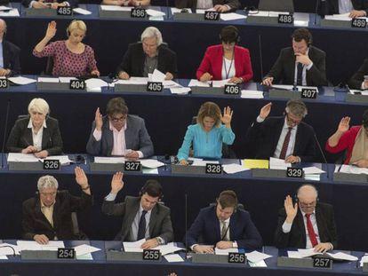 Votação no plenário do Parlamento Europeu, em Estrasburgo.