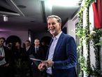 Reed Hastings, durante la inauguración de las nuevas oficinas de Netflix en París el día 17 de enero.