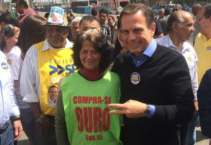 Doria em campanha na periferia de São Paulo.