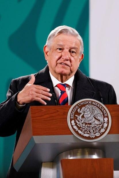 O presidente mexicano, Andrés Manuel López Obrador.