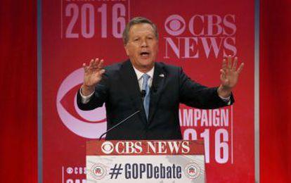 John Kasich, durante o debate.