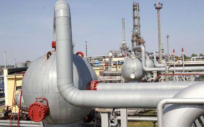 Usina de distribuição de gás de Sololha, a leste de Kiev.