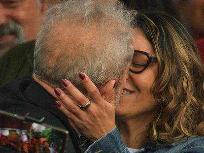 Lula e a namorada, Rosângela da Silva.