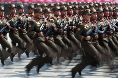 Desfile militar na capital da Coreia do Norte