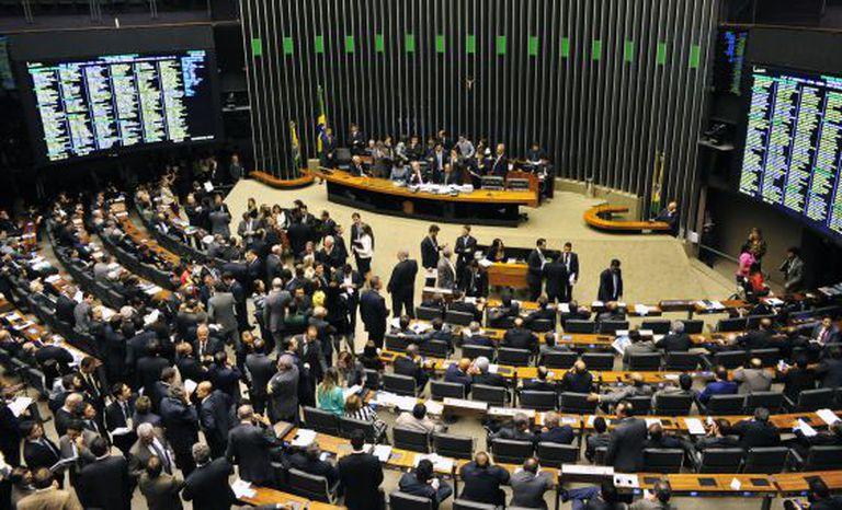 Plenário da Câmara na última terça.