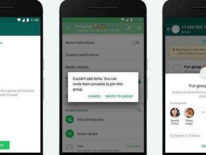 Exemplos das opções de configurações de privacidade que serão incorporadas ao WhatsApp.