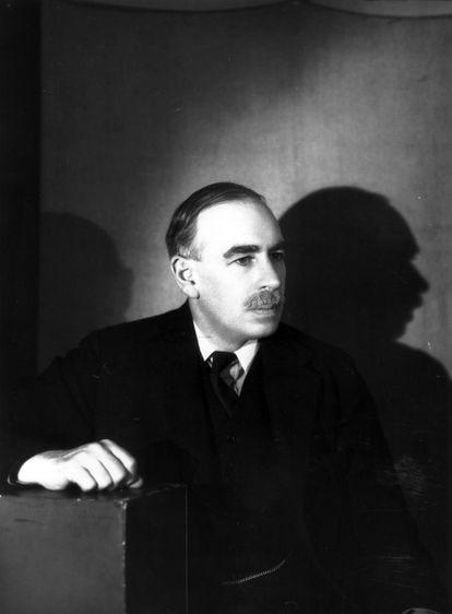 John Maynard Keynes por volta de 1938.
