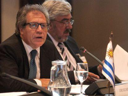 O chanceler uruguaio, Luis Almagro (à frente).
