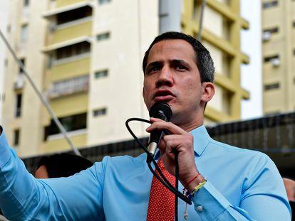 Juan Guaidó nesta segunda-feira em Caracas.